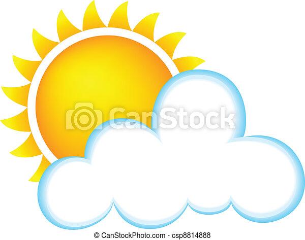 ensoleillé, nuages - csp8814888
