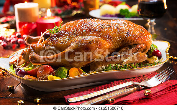 Weihnachten Ente.Ente äpfel Braten Weihnachten