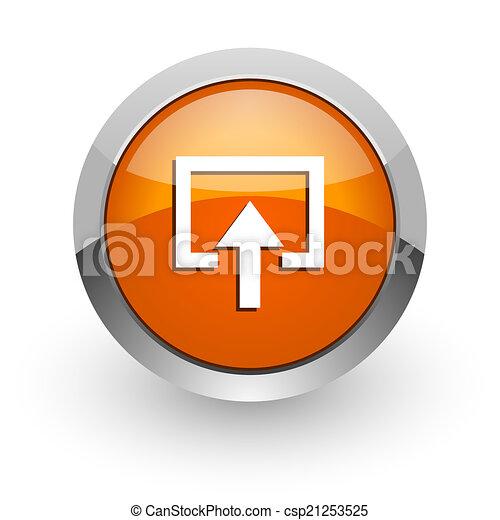 enter orange glossy web icon - csp21253525