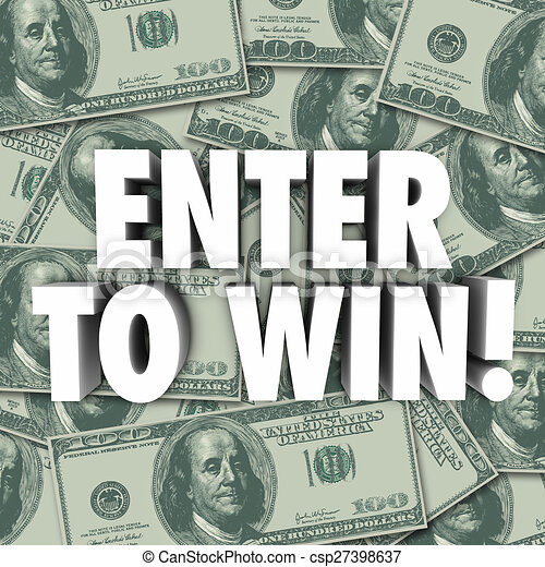 enter to win money dollars background contest raffle prize award csp27398637