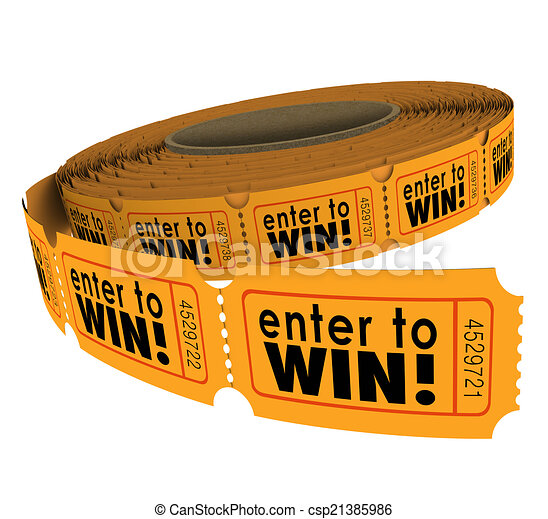 Enter To Win Raffle Ticket Roll Fundraiser Charity Lottery  Stock