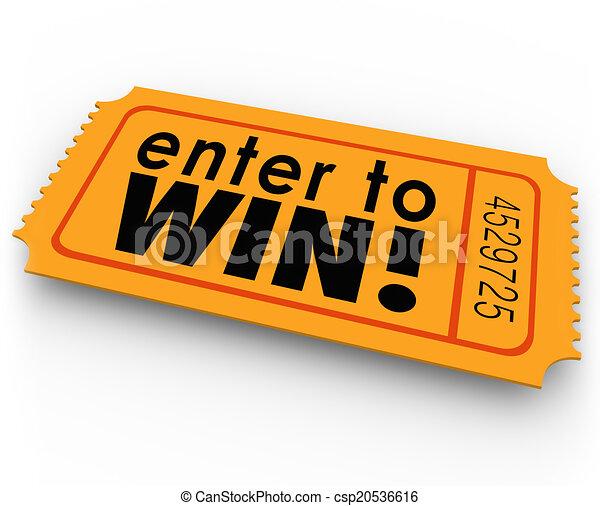 enter to win raffle ticket winner lottery jackpot enter to rh canstockphoto com raffle ticket clipart black and white raffle ticket clipart free