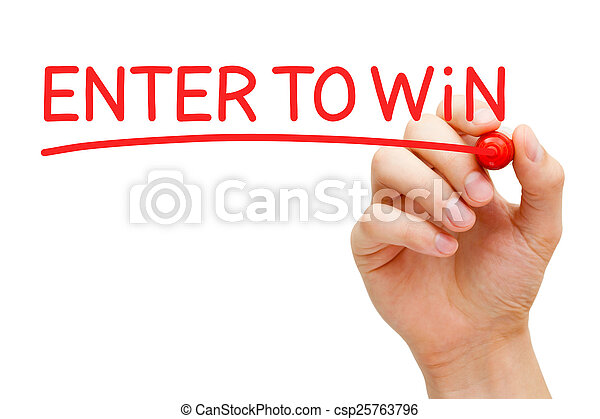 Enter to Win Red Marker - csp25763796