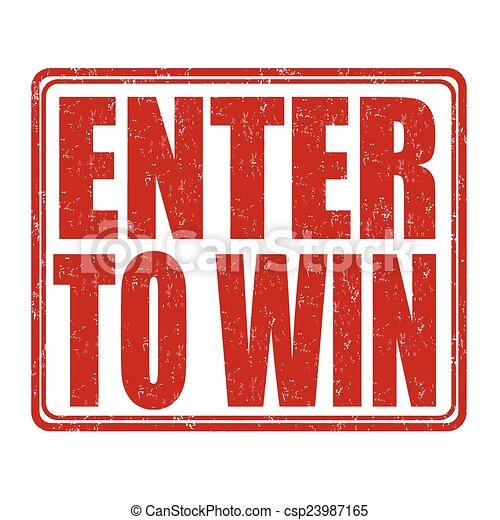 Enter to win stamp - csp23987165