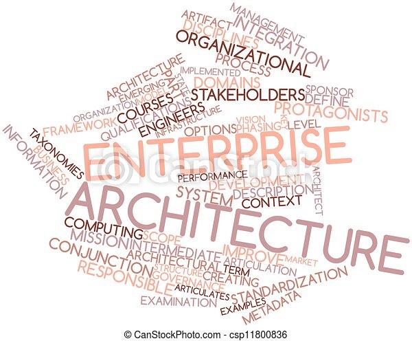 Enterprise Architecture Stock Illustration