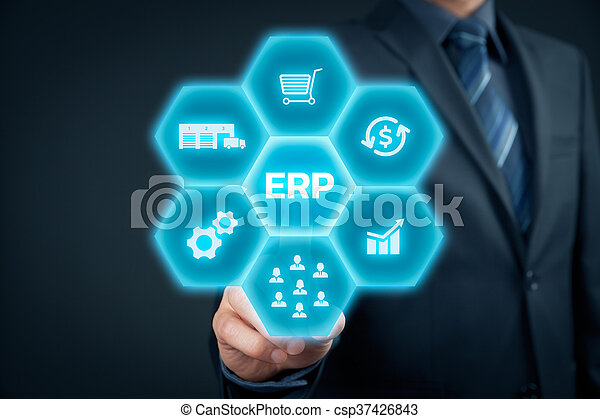 Enterprise resource planning ERP - csp37426843