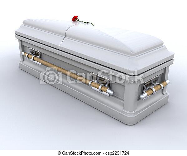 enterrement, cercueil - csp2231724