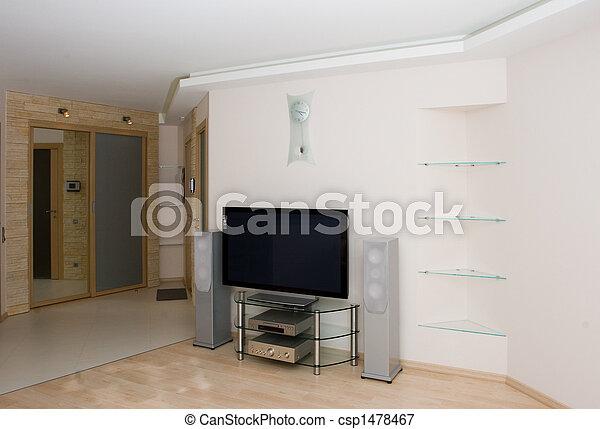 enterrer, moderne, dessin, salle - csp1478467