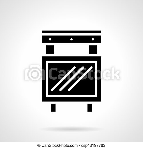 Entertainment Advertising Glyph Style Vector Icon Abstract