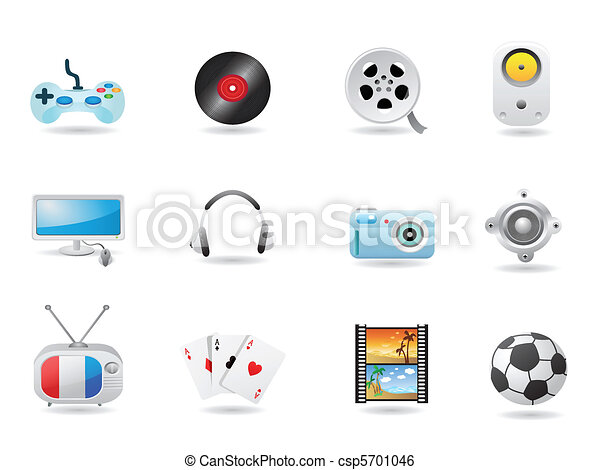 Entertainment Icon Set  - csp5701046