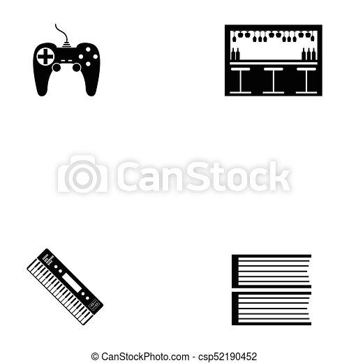 entertainment icon set - csp52190452