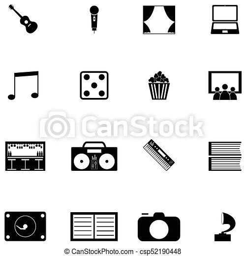 entertainment icon set - csp52190448