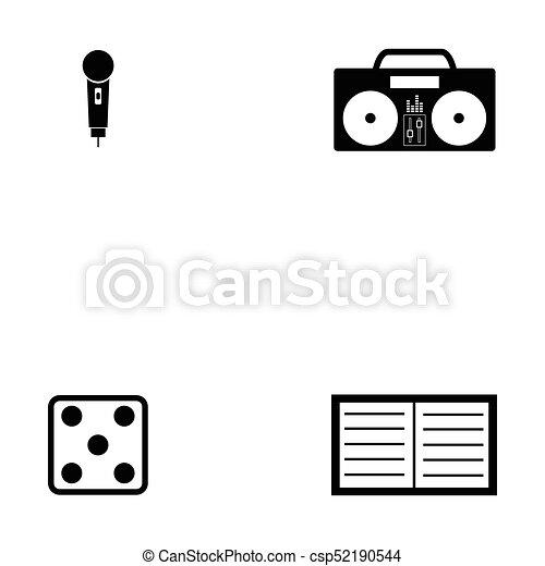 entertainment icon set - csp52190544