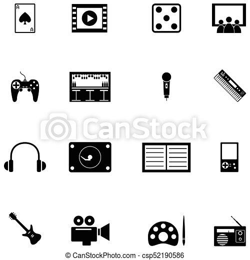entertainment icon set - csp52190586