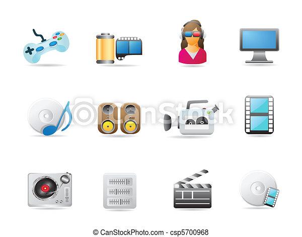 entertainment icon set - csp5700968