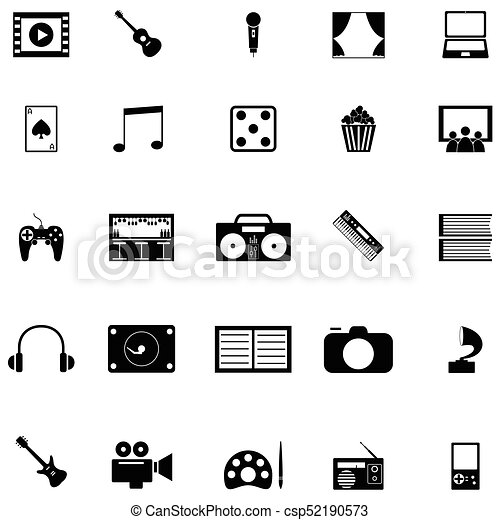 entertainment icon set - csp52190573