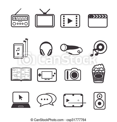 Entertainment icons set - csp31777764