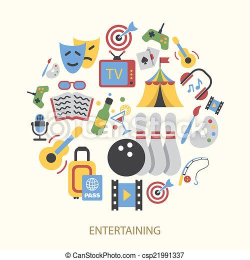 Entertainments icons set - csp21991337