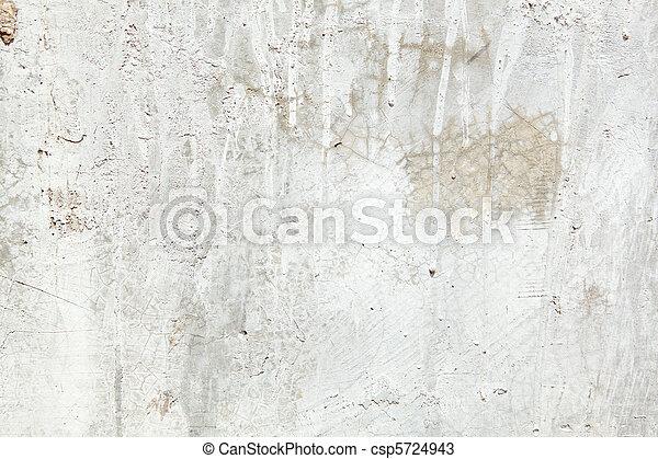 entiers, peint, cadre, égouttement, ciment, peinture, sale, grungy, mur - csp5724943