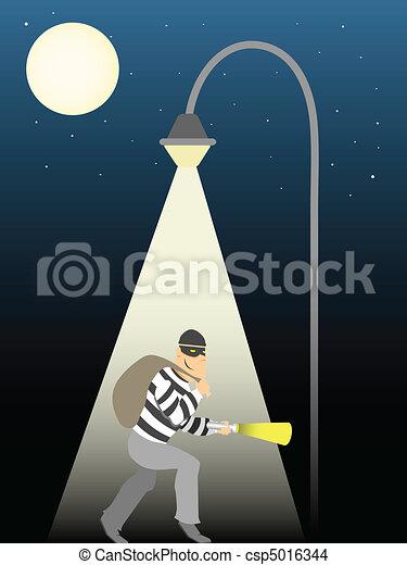 entiers, voleur, lune, sous, ramper, stre - csp5016344