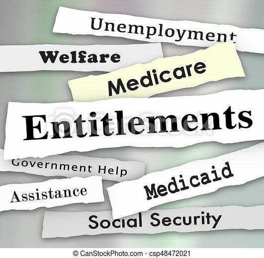 Entitlements Government Programs Medicare Medicaid Welfare News Headlines  Illustration