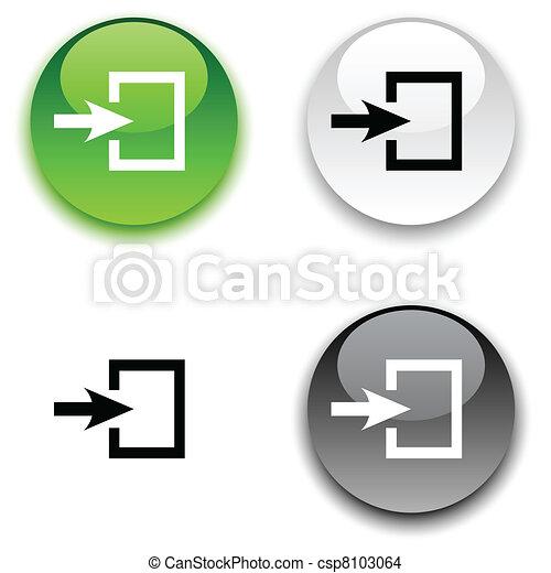 entrée, button. - csp8103064