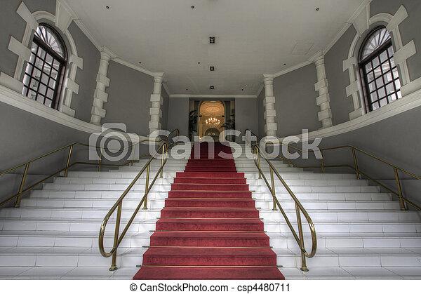 entrée, escalier, grandiose - csp4480711