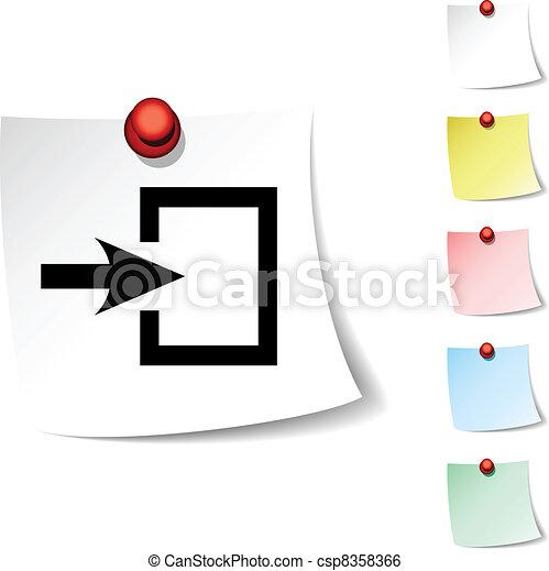 entrée, icon. - csp8358366