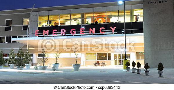 entrada, sala, emergência - csp6393442