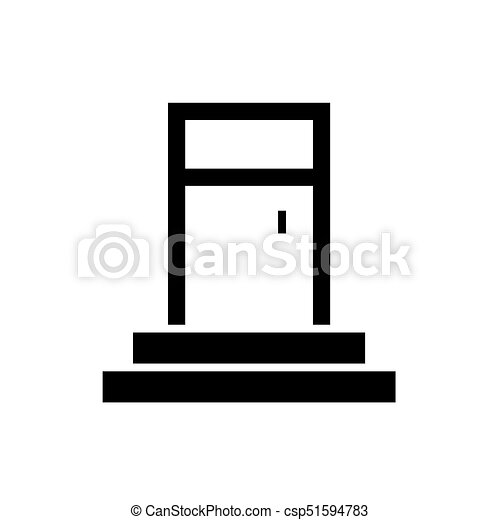 Entrance Door Icon Vector Illustration Black Sign On Isolated Background  sc 1 st  Can Stock Photo & Entrance door icon vector illustration black sign on isolated ...
