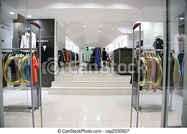 Entrance in the clothes department - csp2330927