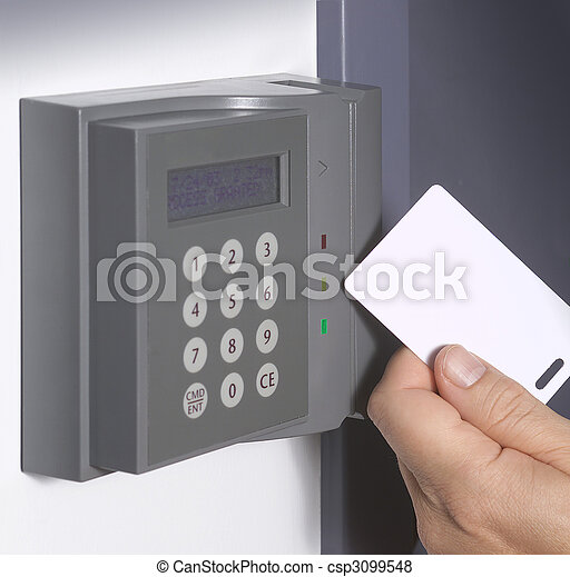 Entrance Security Security Swipe Card Entrance System