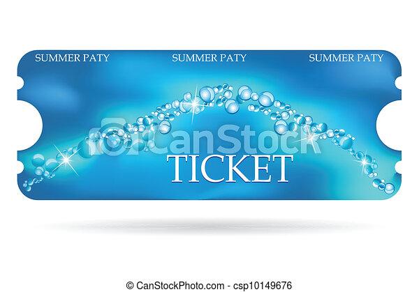 Entrance ticket with special marine design - csp10149676