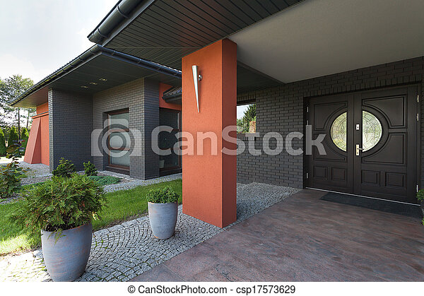 Entrance to a huge house - csp17573629
