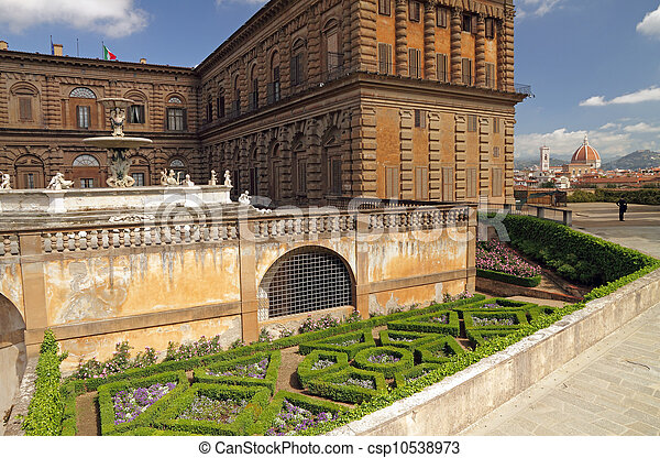 entrance to the Boboli Gardens in Florence  - csp10538973