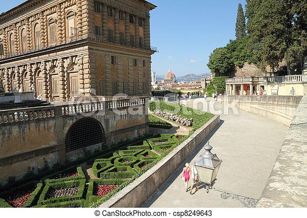 entrance to the Boboli Gardens - csp8249643