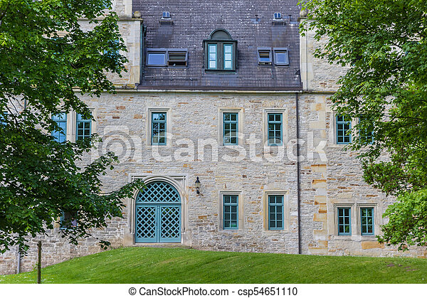 Entrance to the castle of Stadthagen - csp54651110