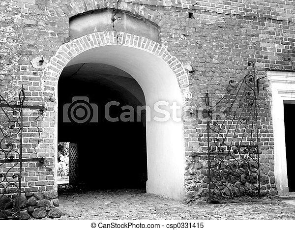 entrance to the castle - csp0331415