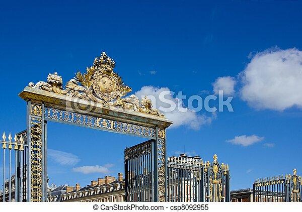 entrance to the castle Versailles - csp8092955