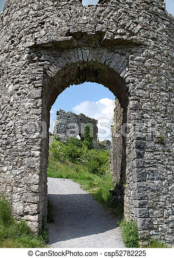 Entrance to the ruins - csp52782225