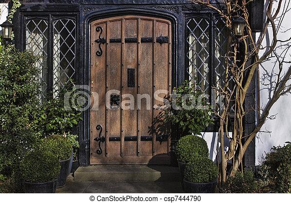 Entrance To Tudor House   Csp7444790
