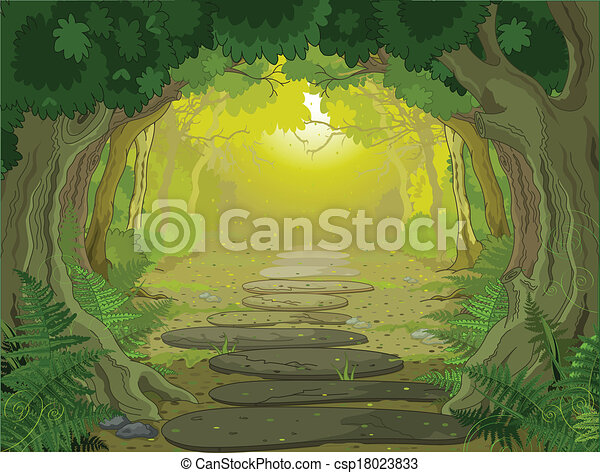 entrata, magia, paesaggio - csp18023833