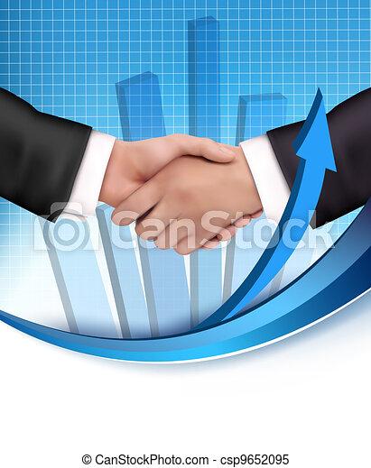 Un apretón de manos entre gente de negocios - csp9652095
