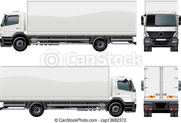 entrega, caminhão carga, / - csp13682372