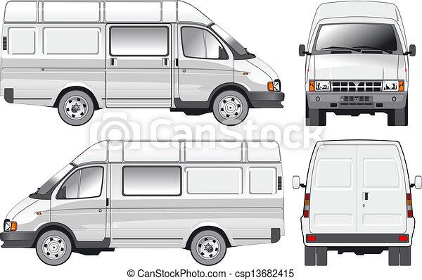 entrega, carga, furgão, /, passageiro - csp13682415