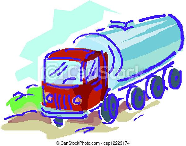 entrega, carga, vetorial, caminhão, / - csp12223174