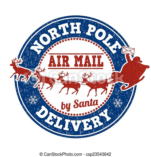Estampado de entrega del Polo Norte - csp23543642