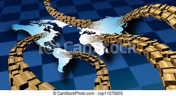 Entrega internacional de paquetes - csp11079203