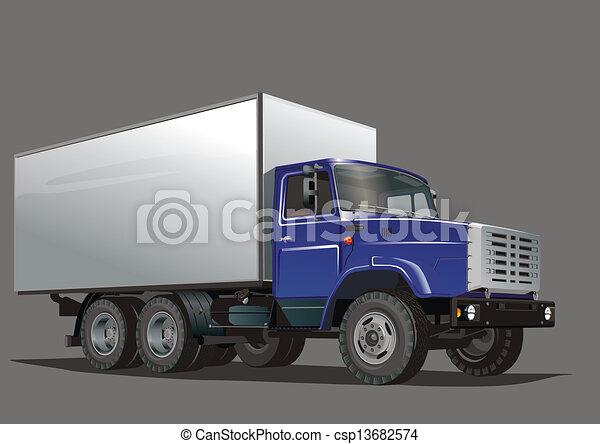 entrega, pesado, caminhão - csp13682574