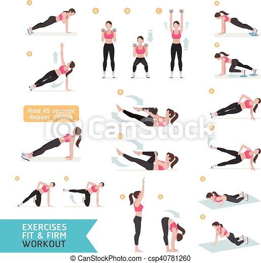 En forma de mujer, aerobic y - csp40781260